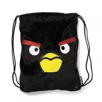 Mochila Angry Birds Felpa De Lazo Negro