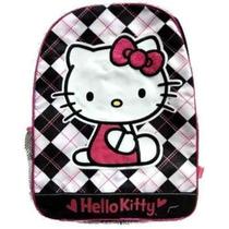 Mochila Hello Kitty Niñas 2-6x Tela Escocesa Del Gatito Back