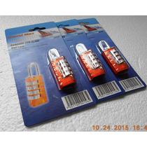 Candados P/maleta Mochila (3 Pzas)travel Max 4 Combinaciones