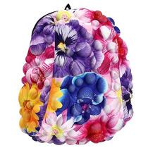 Mochila 3d Para Laptop Bobble Flowers Flores Madpax Bolsa