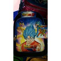 Mochila Back Pack 3d Dragon Ball Goku Pelicula Primaria