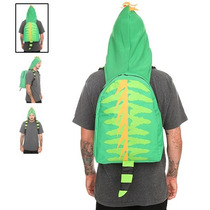 Hot Topic Mochila Lagarto Lizard Hooded Backpack