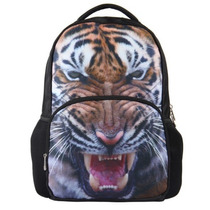 Mochila Backpack 3d Escolar Grande 44x32x18cm Tigre Uni E4f