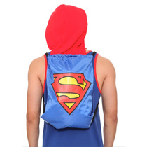 Hot Topic Mochila Dc Comics Superman Hooded Cinch Back Sack