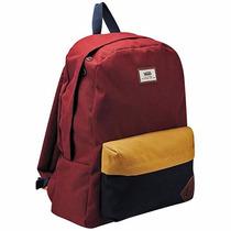 Mochilas Vans Backpack Vn-oonihbg Rojo Marino Amarillo Oi