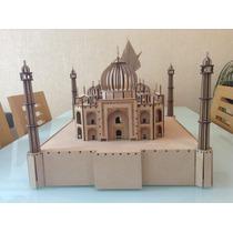 Taj Mahal De Lujo En Madera Mdf Corte Laser! Rompecabezas 3d