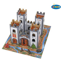 Castillo Medieval Playset - Papo Mini (cartón) Playmat