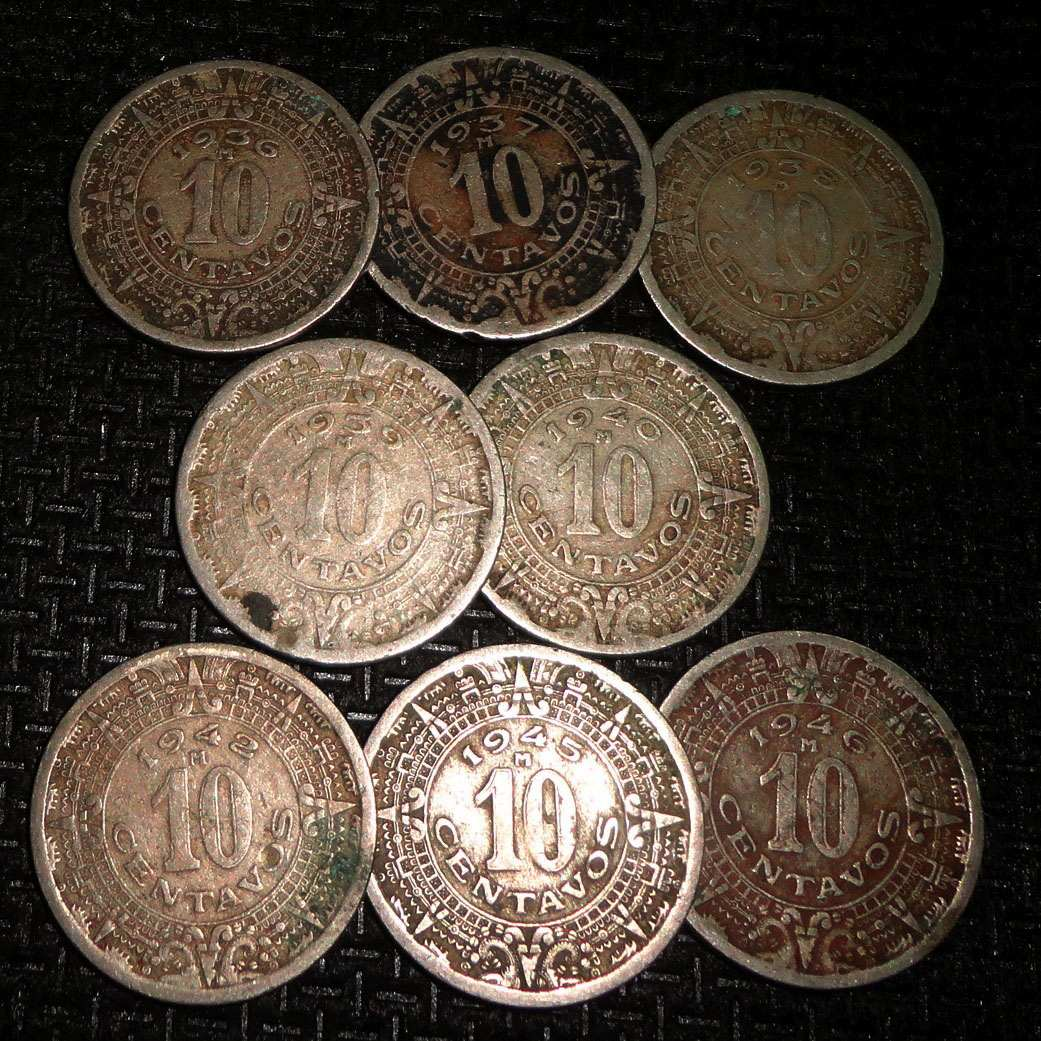 Monedas de 10 Centavos Mexico Monedas 10 Centavo Calendario