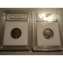 Par De Monedas Certificadas Usa