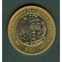 Mexico Moneda De 10 Pesos Batalla Del 5 De Mayo Gral Ignacio