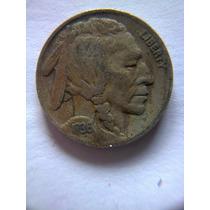 Moneda 5 Centavos Buffalo 1936 D