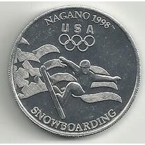 Token Snowboarding Olimpiadas Nagano Japon 1998