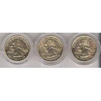 Monedas Usa Cuartos Dollar Conmemorativas Estados Chapa Oro