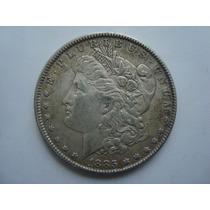 Moneda De Plata - 1 Dolar Morgan 1885 - 26.7 Gms - Ley 0.900
