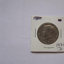 U.s.a. Moneda Kennedy De 1/2 Dolar De 1971 D