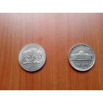 Lote 2 Monedas 5 Centavos De Dollar