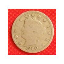 5 Centavos Dollar 1900 Liberty Nikel Estados Unidos - Hm4