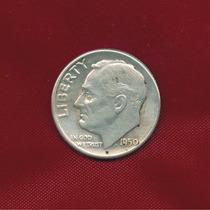 One Dime Roosevelt 1950 Ceca D · Plata 0.900