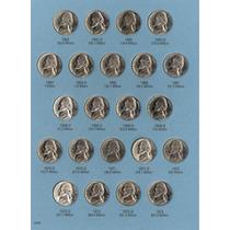 Coleccion De Nickel Jefferson De 1962 A 2013 Sin Circular