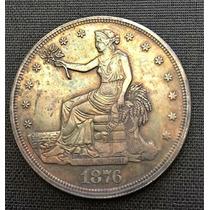Moneda Usa 1 Dolar 1876 Cc S/circular Muy Escasa
