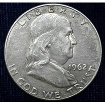 Moneda Half Dollar 1962-d Franklin De Plata