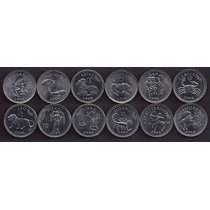 Lote De 12 Monedas Zodiaco 10 Shillings Sin Circular
