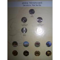 U.s.a. Nickels Westward, Bañados En Oro, Envio Gratis.