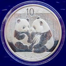 Cumpleaños 2009 Pandas Hermosas De China Plata 999 Troya A75