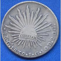 Moneda México 8 Reales Guadalajara 1839 Jg Excelente Estado