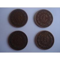 Lote 4 Monedas De 1 Centavo Mexico De 1937 -42 -48 -49