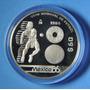 Moneda Plata 50 Pesos , Copa Futbol Mexico 1986 !!