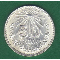 50 Centavos 1945 Plata Mexico Manuel Avila Camacho - Hm4