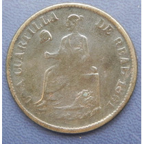 Moneda Mexico 1/4 De Real 1861 Sonora Cobre Excelente