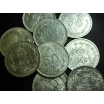 Monedas 50 Centavos Resplandor Plata Ley 0.720 Bonitos