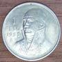 1 Peso 1950 Plata México General Jose María Morelos - Maa