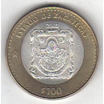 100 Pesos 2003 Plata Y Bronce Moneda México Bimetálica - Hm4