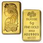 Pamp Suisse 5 G. Lingote Oro Puro .9999, Con Certificado.