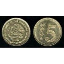 Monedas De 5 Pesos De 1985-1988 Mma
