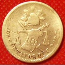 25 Centavos 1883 Plata Balanza México Gral Porfirio Diaz Hm4