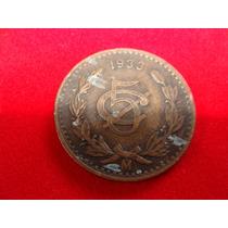 Moneda De 5 Centavos 1933