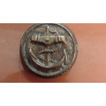Boton Militar Antiguo De Ancla