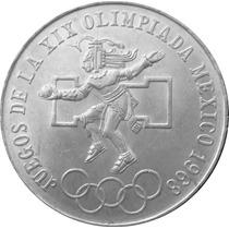 1968 $ 25 Pesos Olimpica Aro Bajo