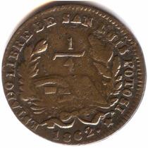 1/4 De Real 1862 S.l.p. Republica