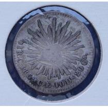 Moneda México 1 Real Culiacán 1854 Águila Sonora Escasa