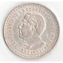 Moneda Un Peso Juarez 1957 Plata