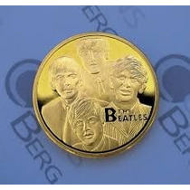 Moneda Conmemorativa The Beatlels Gold Plated Coins 32.6m*3m