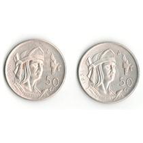 Serie Cuauhtémoc 50 Centavos Plata 1950-1951