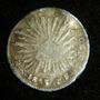 Moneda Medio 1/2 Real 1855 Go Guanajuato Plata Republica %