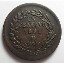 1 Centavo 1891 Mo República Mexicana