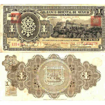 Billete De Un Peso Sello Cuadrado